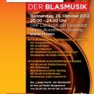 """ORF-Livesendung \""""Lange Nacht der Blasmusik\"""" 25.10.2012"""